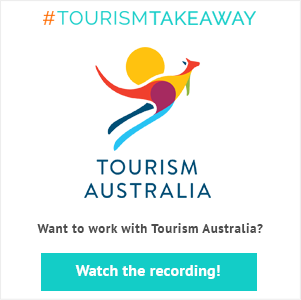 Banner Register for Booking Boss' live webinar with Tourism Australia