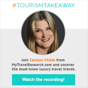 #TourismTakeaway webinar with Carolyn Childs!